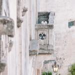 Balcone, facciata del castello