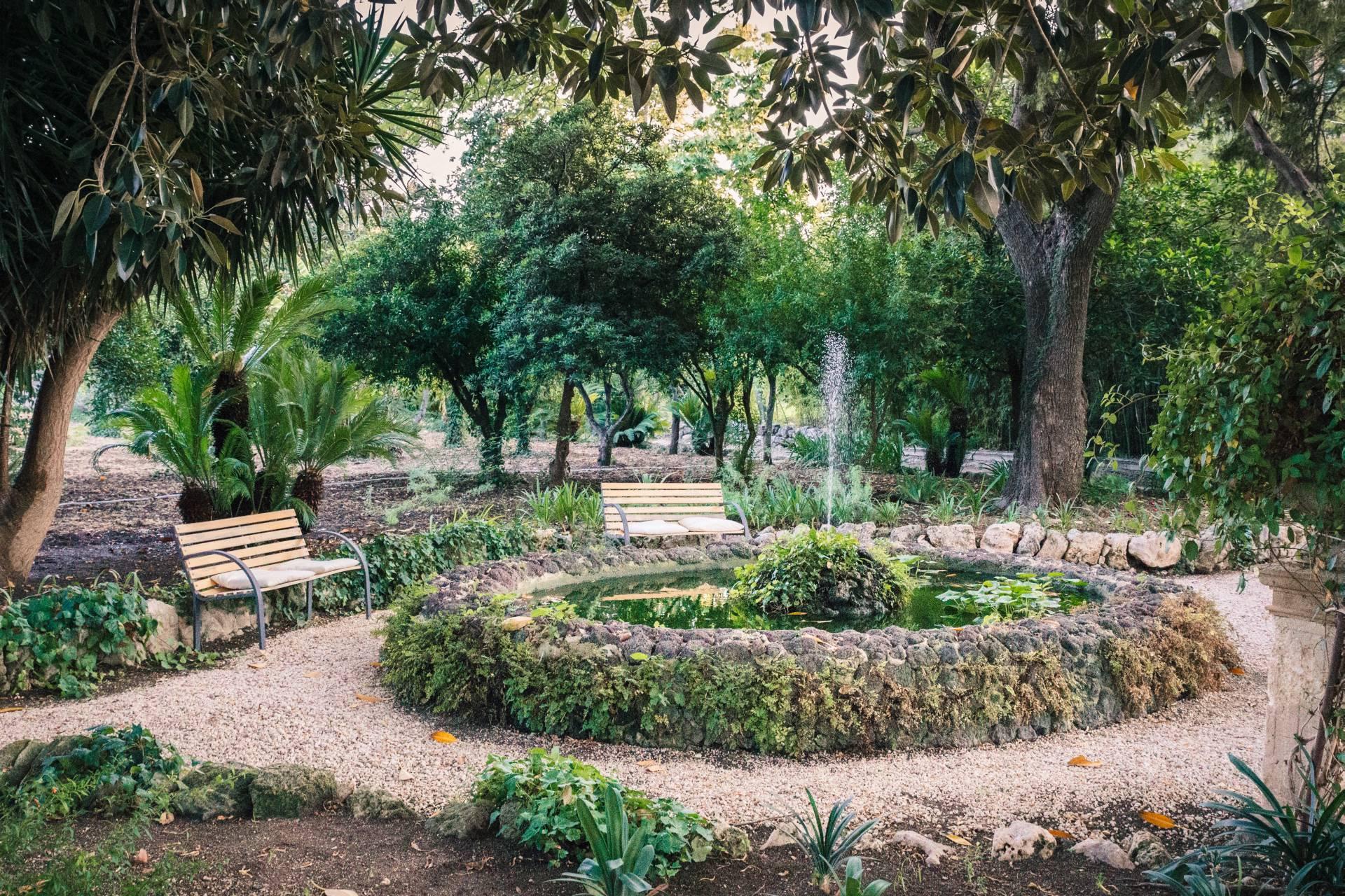 Giardino storico, dettaglio della fontana